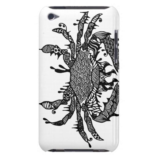Crab #1 hand drawn art iPod case iPod Touch Cover