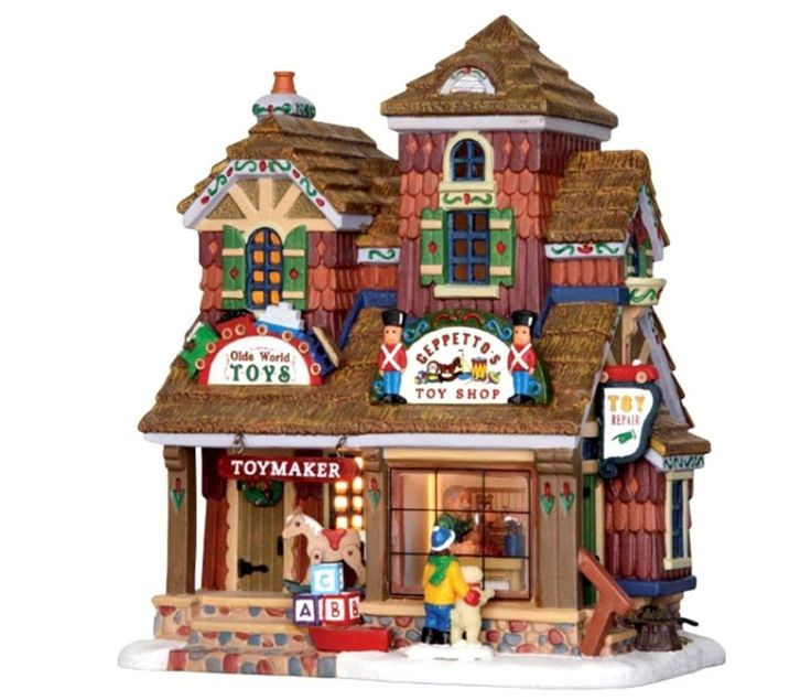 Lemax 25390 GEPPETTO'S TOY SHOP Christmas Village Building. Shipping Included  | eBay