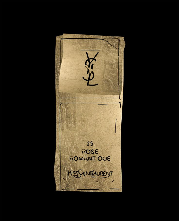 YSL Lipstick. Peter Bainbridge. Silk screened on handmade French cotton paper, with 24ct gold leaf.
