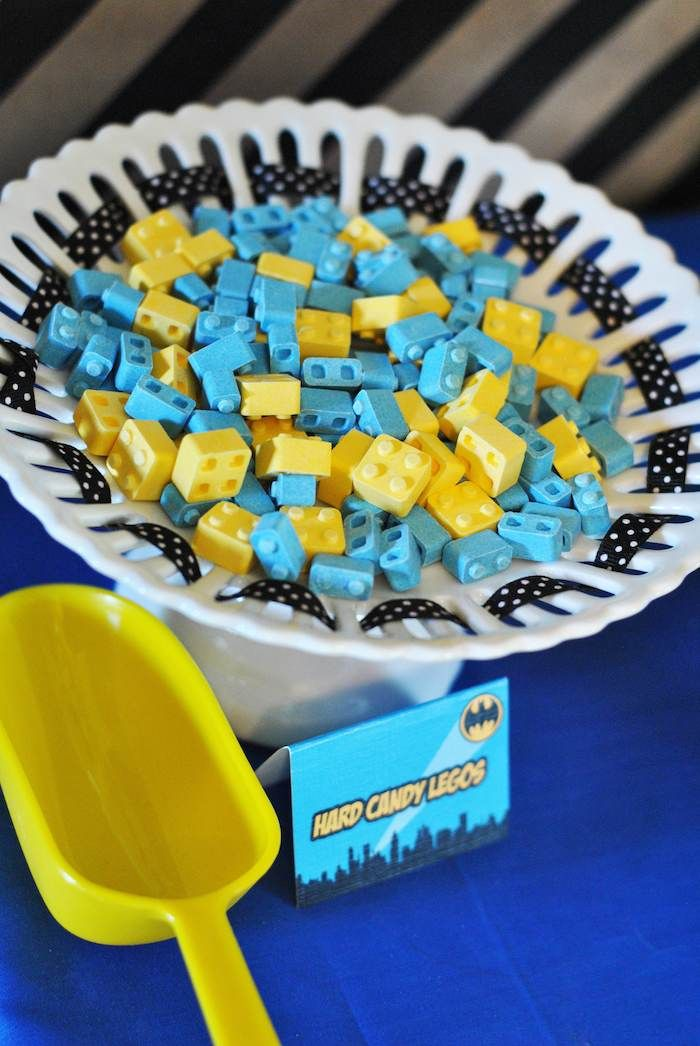 Lego Batman inspired birthday party via Kara's Party Ideas KarasPartyIdeas.com Party favors, cakes, recipes, printables, games, and more! #batman #superheroparty #karaspartyideas (24)