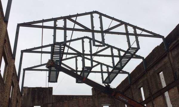 Comenzó a techarse un histórico edificio de Zárate que será un salón de usos múltiples público