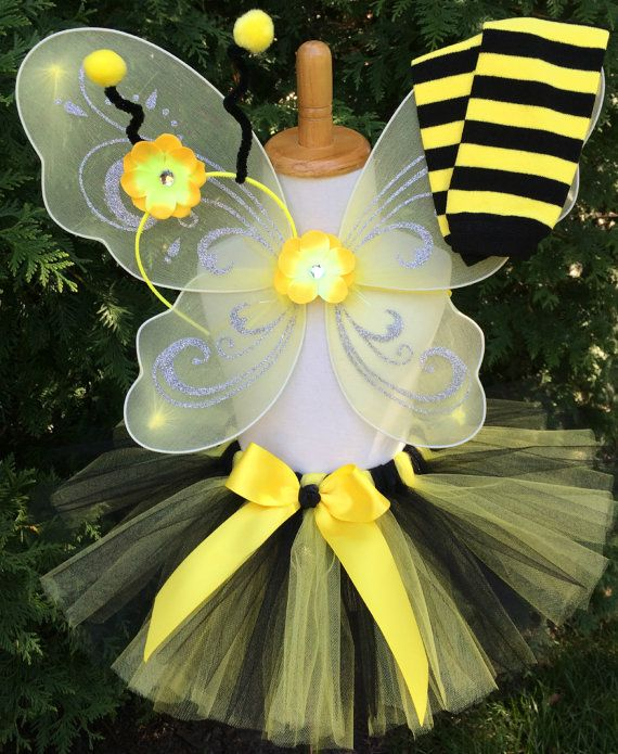 Bumble Bee Costume  Baby Girl Bumble Bee Tutu Costume! Sure to make your little ones Halloween festivities a little more festive!! All you need