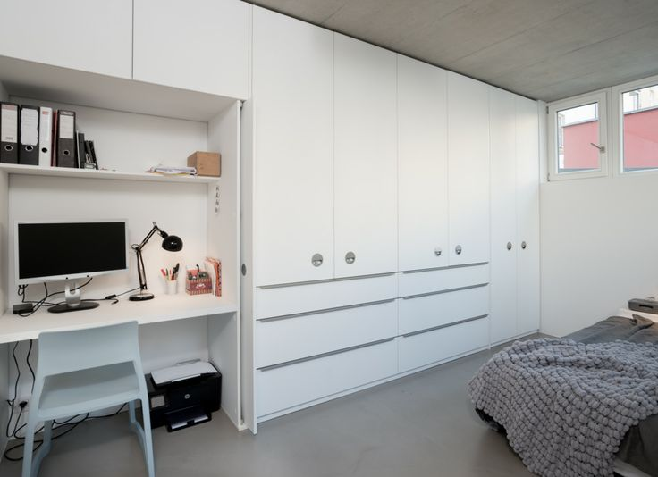 hidden study place in wardrobe
