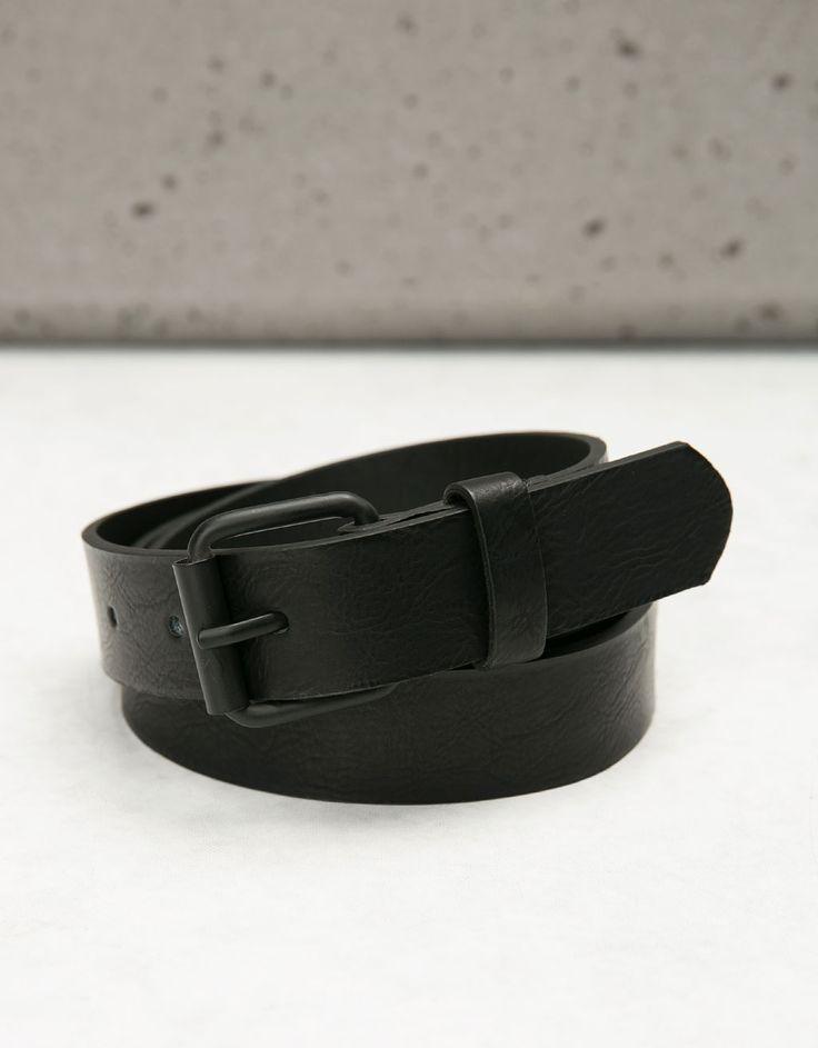 Skinny belt roller buckle - Accessories - Bershka Poland