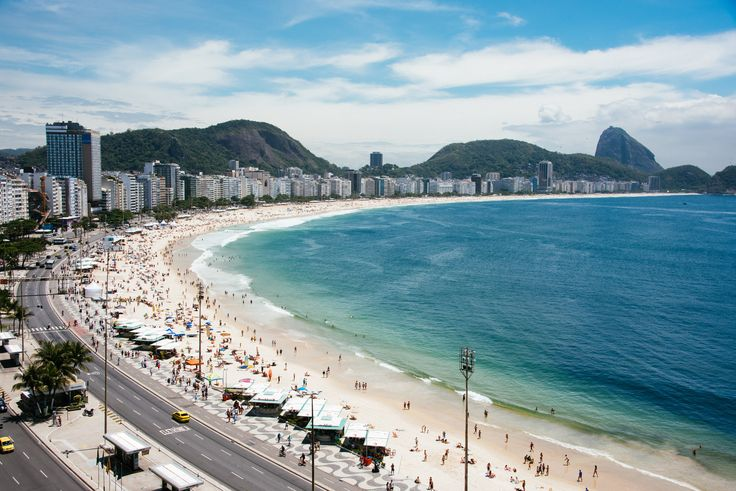 Copacabana - View from Hotel Orla's rooftop.