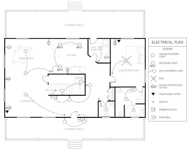 House Electrical Plan Architectural Stuff Pinterest