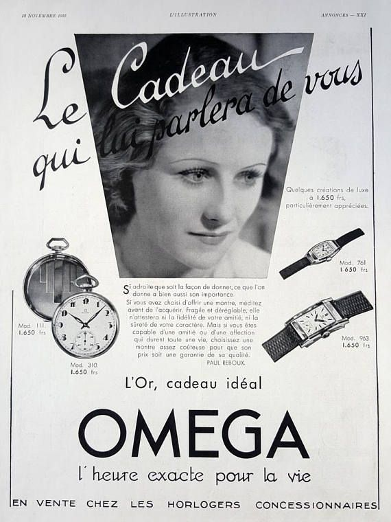 OMEGA watches vintage advertising Omega poster retro ad for