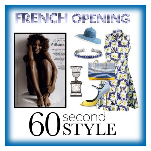 """""""SERENA WILLIAMS - FRENCH OPENING"""" by conch-lady ❤ liked on Polyvore featuring Mother of Pearl, Pierre Hardy, Sea Bags and EAST"""