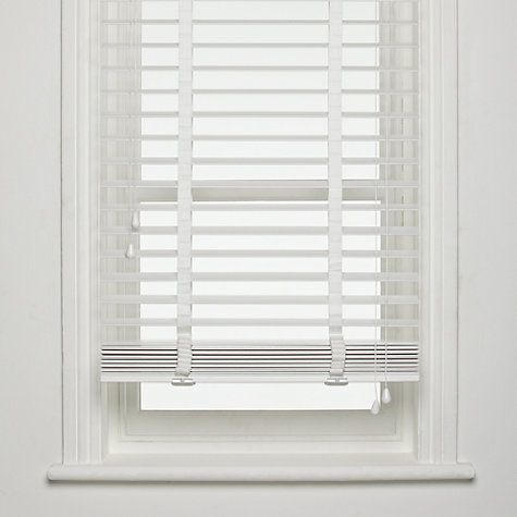 Buy John Lewis Fsc Wooden Venetian Blinds 50mm Online At Johnlewis Com