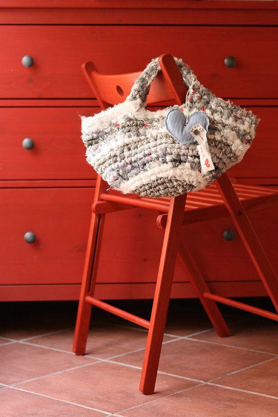 Borsa artigianale di cotone fatta a mano / Handmade cotton bag #ambrarose #handmade#bag