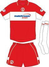 Leyton Orient home kit for 2002-03.