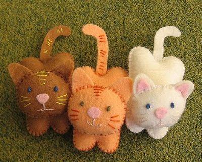 adorable felt kitties