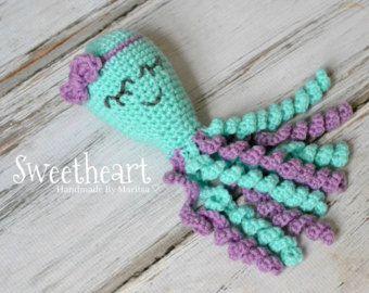 Octopus For Preemies,Preemie Octopus,Girl Octopus, NICU Octopus, Sweetheart,Comfort Doll,Crocheted Octopus,Baby Shower Gift, Newborn Gift