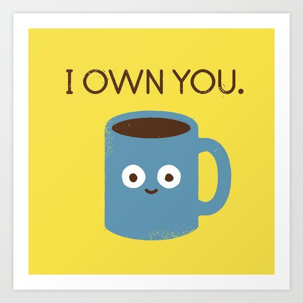 Coffee Talk by David Olenick https://society6.com/product/coffee-talk-8w4_print?curator=themotivatedtype