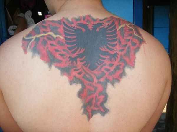 albanian flag tattoo pictures tattoo pinterest. Black Bedroom Furniture Sets. Home Design Ideas