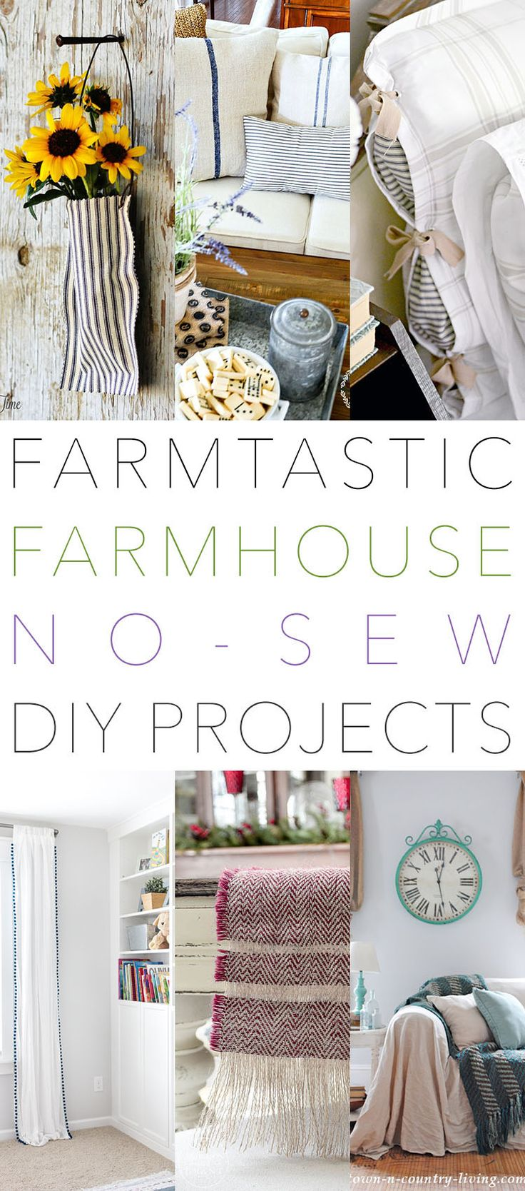 Farmtastic Farmhouse No Sew DIY Projects You Need To Make! | The Cottage Market | Bloglovin'
