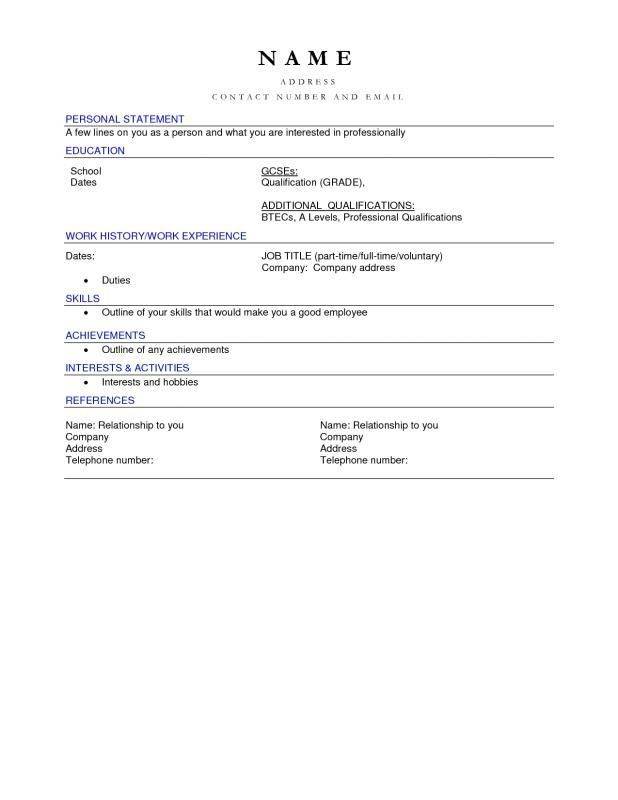Free Blank Resume Templates For Microsoft Word Resume Examples