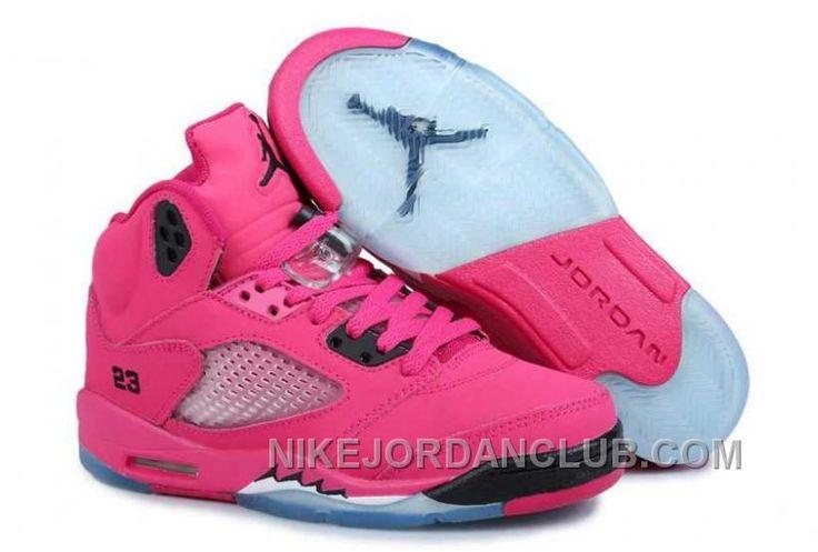 http://www.nikejordanclub.com/nike-air-jordan-5-womens-pink-black-shoes-e2qia.html NIKE AIR JORDAN 5 WOMENS PINK BLACK SHOES HDYJH Only $84.00 , Free Shipping!