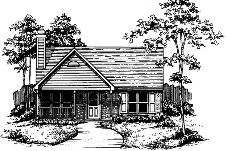 Country Exterior - Front Elevation Plan #30-210 - Houseplans.com