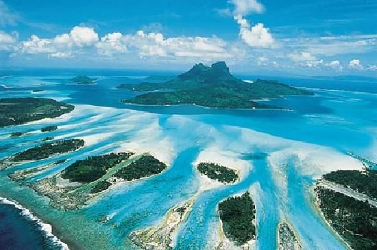 Aerial View of Bora Bora #travel: Destinations, Tahiti, Dreams Vacations, Honeymoons Places, South Pacific, French Polynesia, Best Quality, Borabora, Solomon Islands