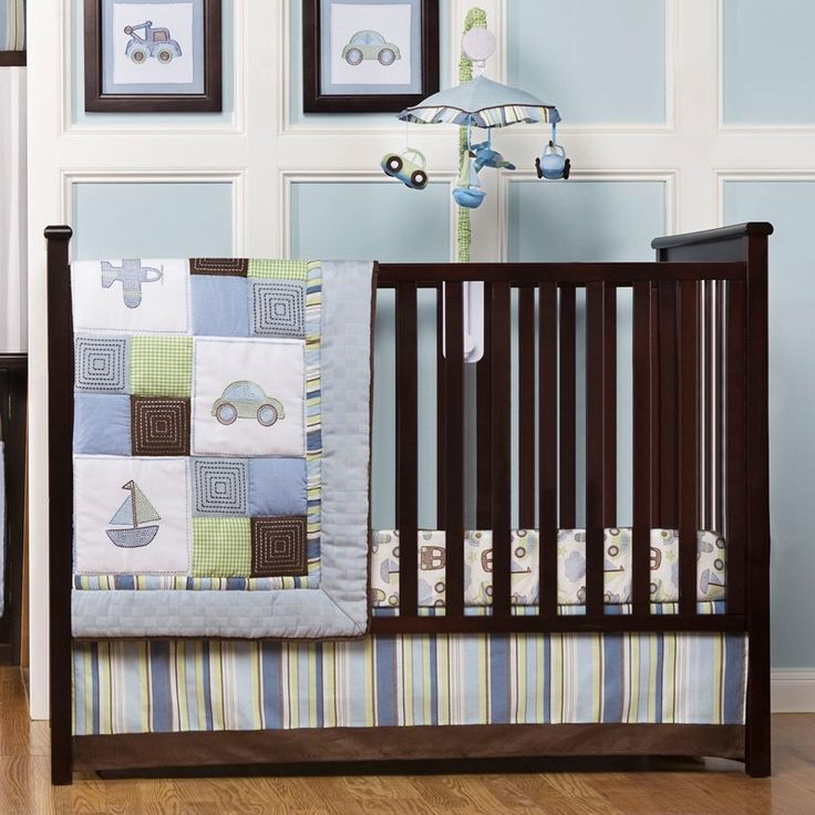 Mosaic Transport 8pc Bedding Set 349249987 | Baby Boy Bedding Sets | Baby Boy Bedding | Nursery Room Decor | Baby | Burlington Coat Factory