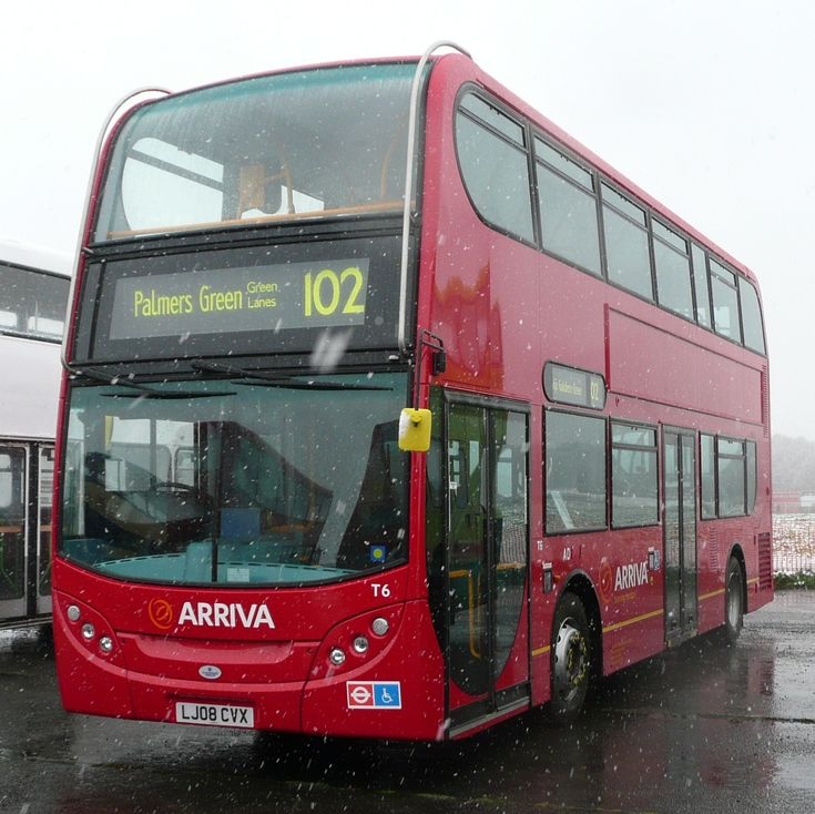 An Arriva enviro 400 double-decker bus, running route 102 on the London Buses network.