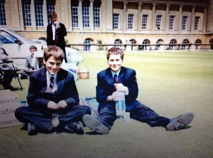 Henry and Charlie Cavill at boarding school.