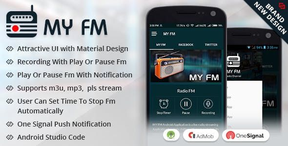My fm in 2019 | Source Code for Mobile Apps | Simple app, Android