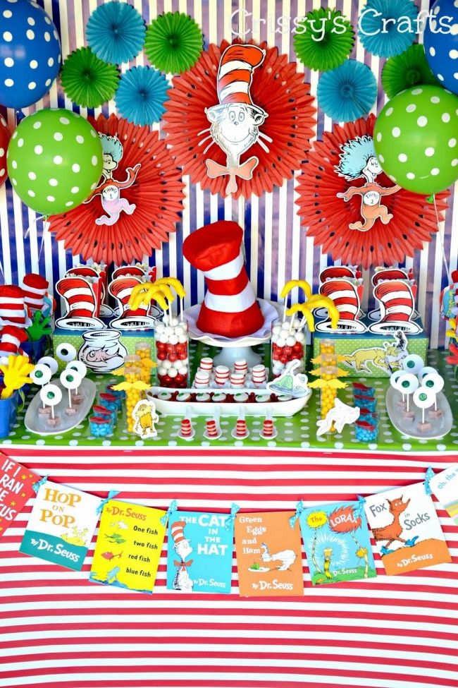 Dr. Seuss Birthday Party Ideas www.spaceshipsandlaserbeams.com