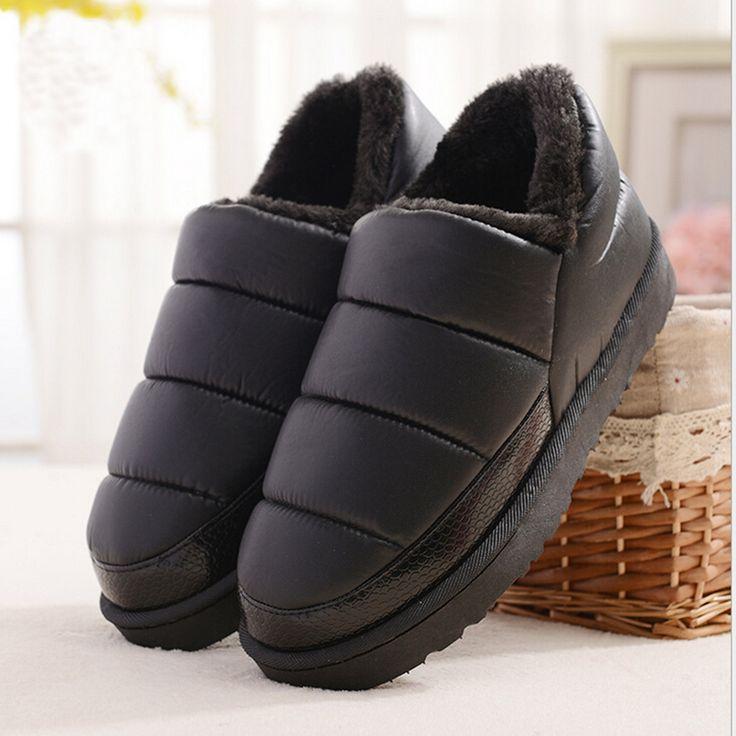 新しい到着防水女性pu革雪のブーツ暖かいショートぬいぐるみアンクルブーツ女性の冬の靴女性大ビッグサイズ41 45