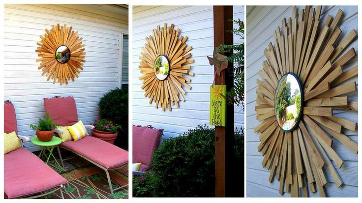 cool Style Your Home With A DIY Sunburst Mirror
