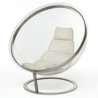 Plexiglas ball chair by Christian Daninos, 1968.