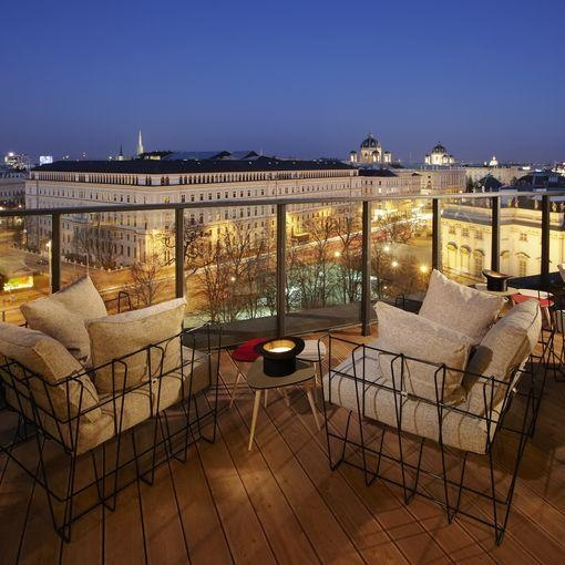 rooftop bar 25 Hours Hotel, Vienna