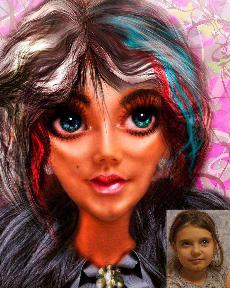 """Как-то изучала однажды я искусство обработки фото и наткнулась на """"Doll Face"""" перерыла кучу уроков, но так толковых не нашла и можно сказать методом тыка пришла к такому варианту. Мне мой опыт понравился))) Да и дочке тоже, кстати она была главной моделью. Фотку взяла самую простую из домашнего архива."""
