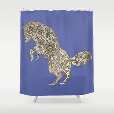 Lace Fox Shower Curtain by I Love the Quirky