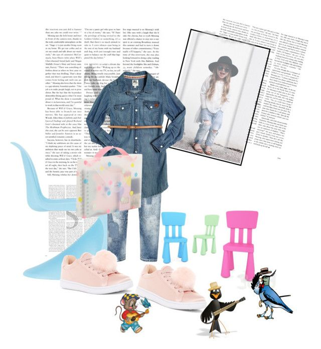 """""""Penny's look for school tomorrow"""" by rhaxkido ❤ liked on Polyvore featuring Vitra, American Outfitters and Madden Girl"""