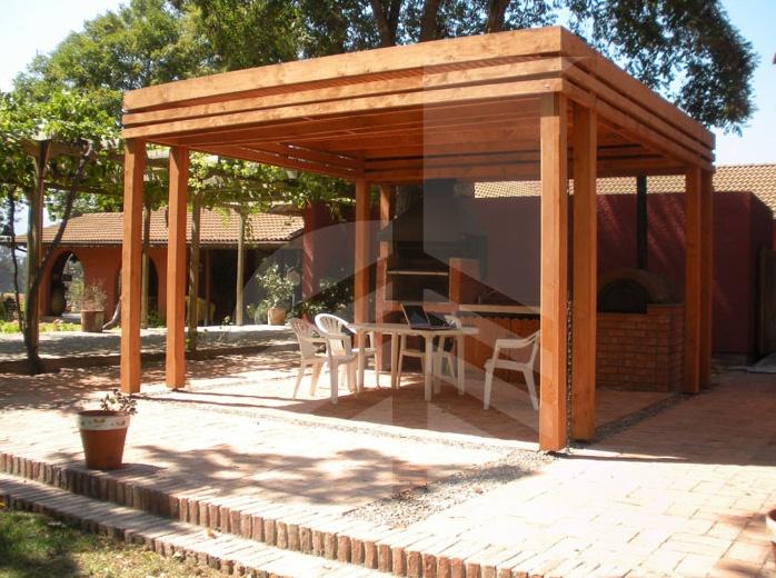 P rgola de madera con doble pilar p rgolas pinterest - Gazebos de madera ...