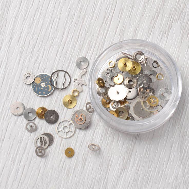 1 Boîte Ultra mince Vapeur Punk Pièces Style Goujons À Ongles 3D Nail Art Décorations Temps Roue En Métal Manucure DIY Nail Conseils Art dans   de   sur AliExpress.com | Alibaba Group