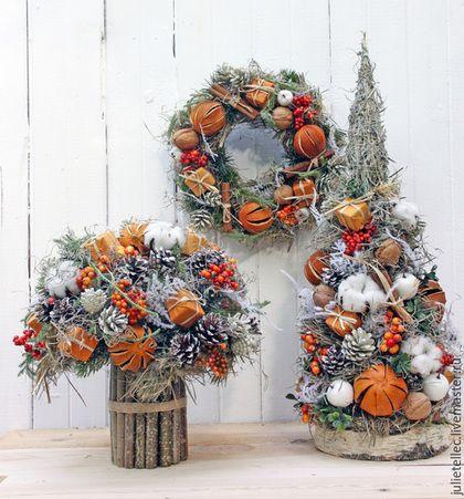 Новый год 2016 ручной работы. Апельсиновый венок. Cadeaux de Noёl. Интернет-магазин Ярмарка Мастеров. Новый Год, подарок