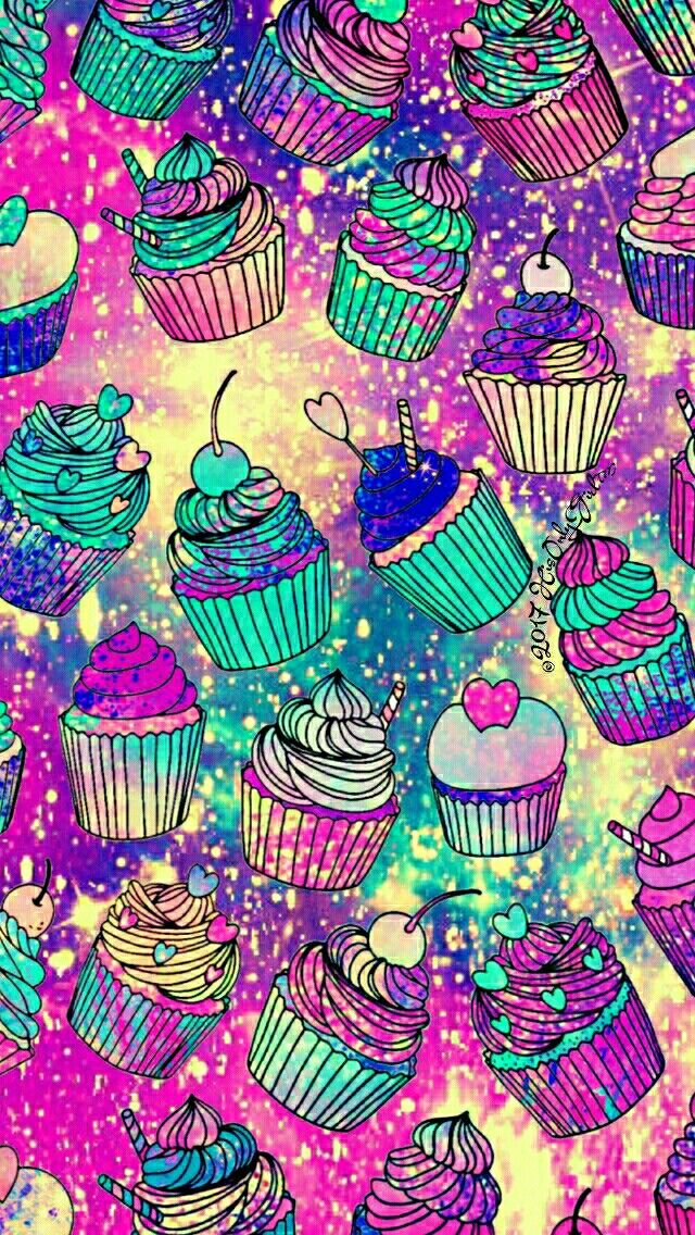 Summer cupcakes Galaxy iPhone/Android wallpaper I created for the app CocoPPa!