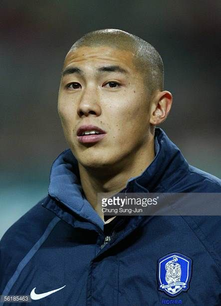 Cha DuRi of South Korea during the International friendly match between South Korea and SerbiaMontenegro at the SangAm World Cup stadium on November...