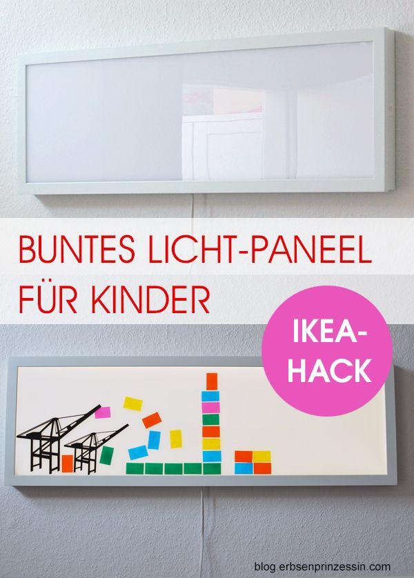 Lichtpaneel Floalt von Ikea mit bunten Motiven fürs Kinderzimmer dekorieren