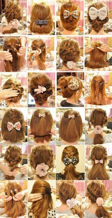 gyaru cute hairstyles... but you know what I really love? The bows. Like I used to wear in, like, 6th grade. Oh yeah.