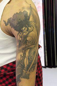 Afro Samurai tattoo by Eddie Carrero