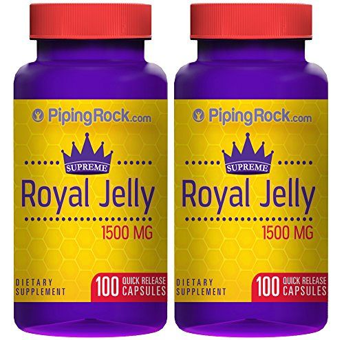 Supreme Royal Jelly 1500mg 200 Capsules *** Want additional info? Click on the image.