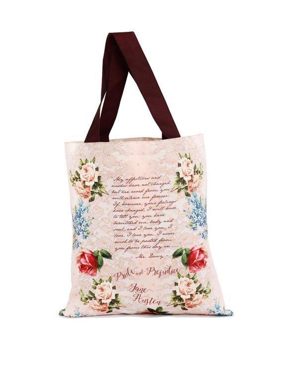 VIDA Tote Bag - Jane Austen Garden Tote B by VIDA cYk8kP3F