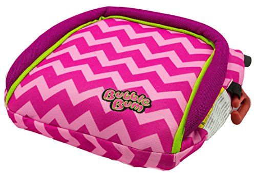 BubbleBum Inflatable Booster Seat Pink/Chevron
