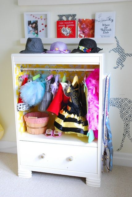 Convert Drawers to a dress-up wardrobe