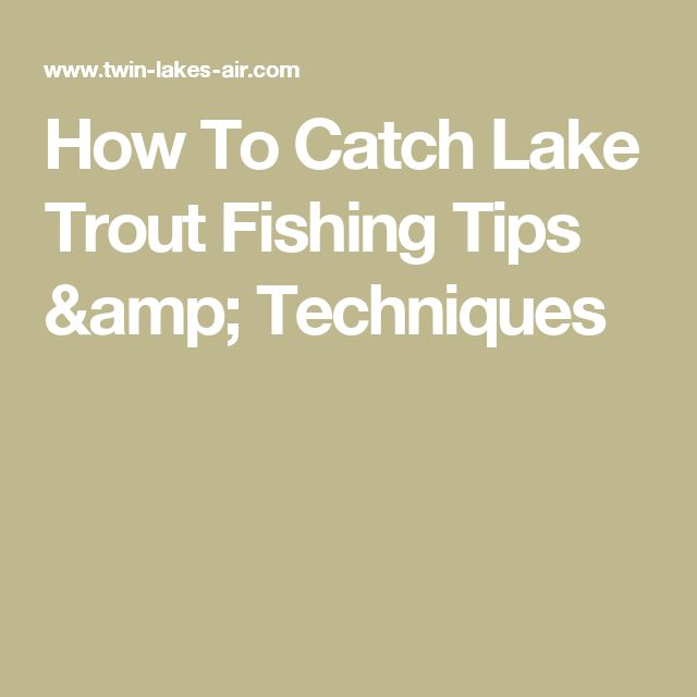 How To Catch Lake Trout Fishing Tips & Techniques