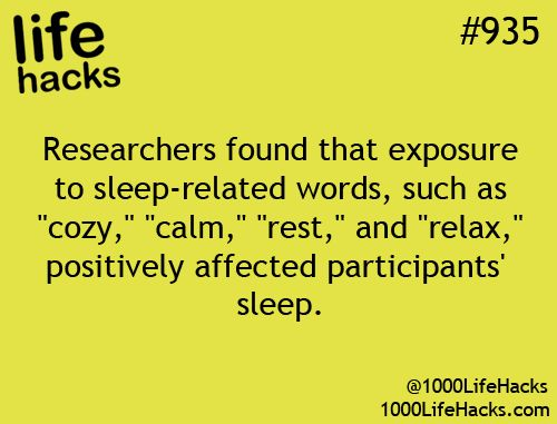 Researchers found that exposure to sleep-related words positively affected participants' sleep.